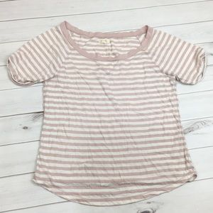 Aerie pink stripe tee